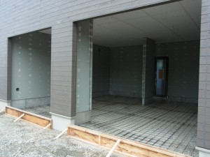 ガレージ内部土間コンクリート工事1